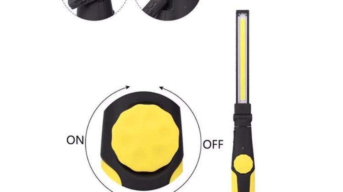 LAMPA LUCRU / LANTERNA SERVICE LED magnetica reîncărcabilă