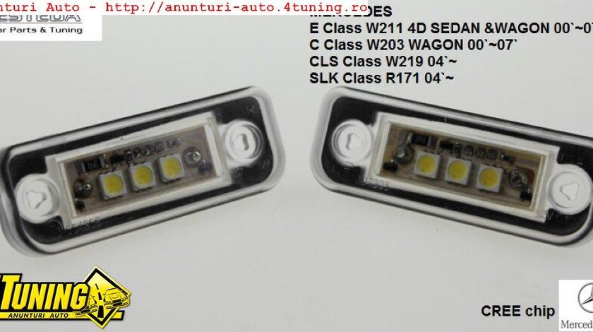 Lampa numar LED Mercedes Benz E Class W211 4D C Class W203 WAGONCLS Class W219 04 SLK Class R171 04