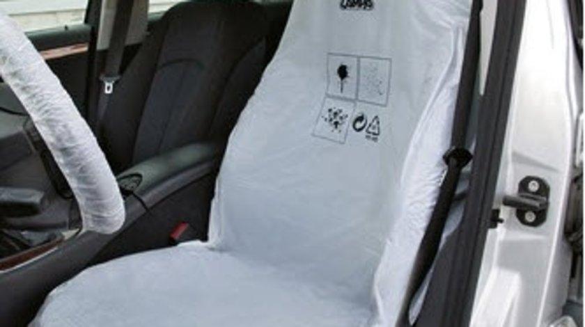 Lampa set 100 huse scaun protectie plastic albe