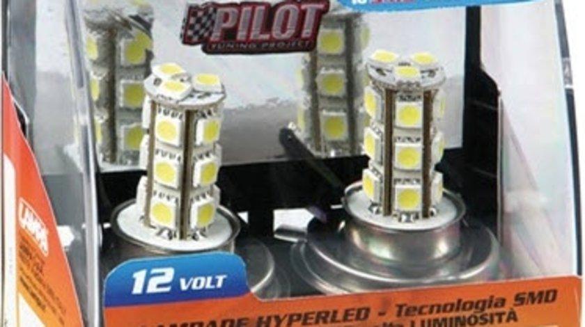 Lampa set 2 becuri multi-led H4 12V, 18SMD leds