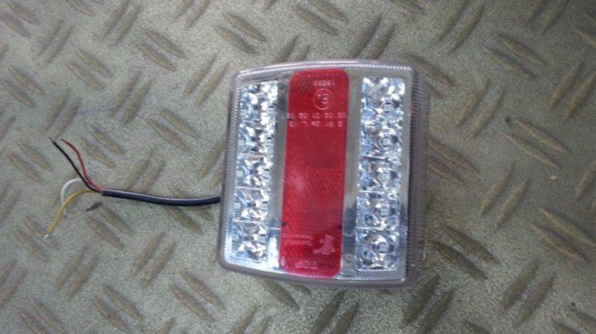 Lampa stop remorca led smd cu 4 functi-sticla clara