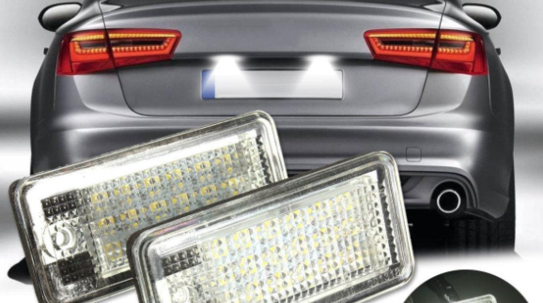 Lampi 18 LED dedicate AUDI A6 A3 a4 a8 q7 canbus numar inmatriculare