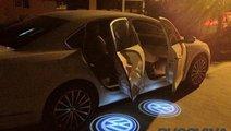 LAMPI LED PT PORTIERE CU LOGO VW CADDY, PASSAT B6,...