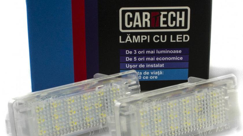 Lampi numar dedicate cu LED Renault, Dacia