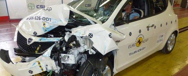 Lancia Ypsilon 2015 a luat foc in timpul testelor Euro NCAP, primeste 2 stele