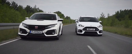 Le-au pus fata in fata ca sa vada care este mai buna. Test comparativ intre Civic Type R si Focus RS
