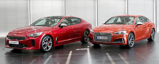 Le-au pus laolalta ca sa vada care arata mai bine. Comparativ vizual intre Audi S5 si Kia Stinger
