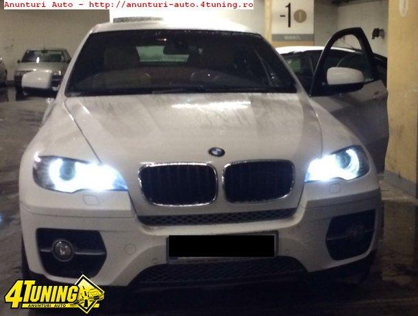 Led marker H8 80W pt schimbarea culorii Angel eyes urilor din galben in alb rece ca la modelele noi BMW Pentru toate auto cu H8 E90 LCI xenon , E60 , E61 , E91 , E92 , E93 , E70 , x5 , E71 . X6 , F01 , E63 , E64
