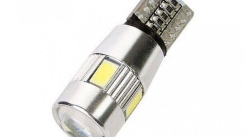 Led T10 6 SMD Canbus Lupa Premium Galben