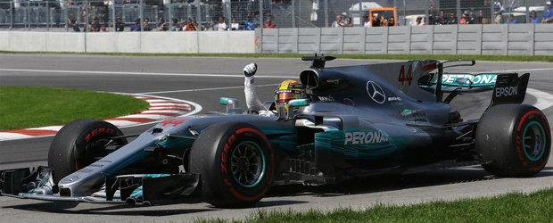 Lewis Hamilton este rege in Canada. Britanicul isi trece in cont a sasea victorie pe circuitul Gilles Villeneuve
