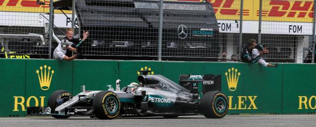 Lewis Hamilton repeta performanta din Austria si castiga Marele Premiu al Germaniei la Formula 1