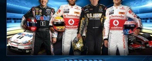 Lewis Hamilton si Tony Stewart te provoaca sa ii invingi in noul joc Mobil 1