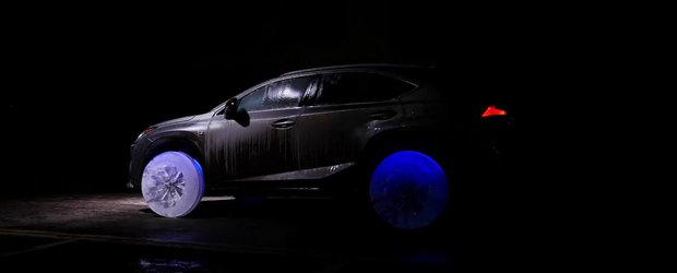 Lexus echipeaza un model NX cu roti adevarate din gheata. Pentru ca poate.