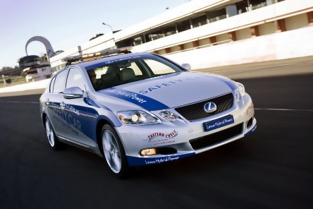 Lexus GS 450h, safety car in Australia