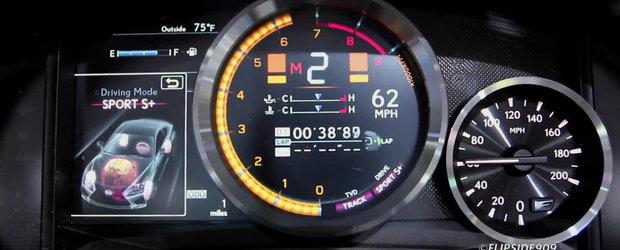 Lexus RC-F in actiune: Cum arata ceasurile de bord digitale, plus sunetul motorului V8!