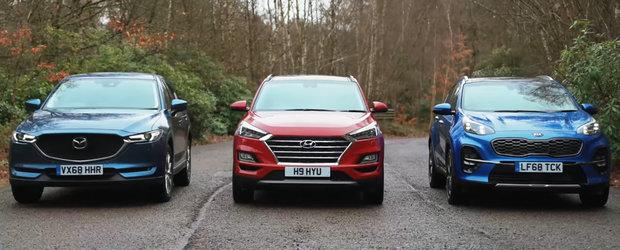 Li s-a dus vorba ca-s fiabile si o alternativa la SUV-urile germane. Lupta se da intre Mazda, Hyundai si Kia