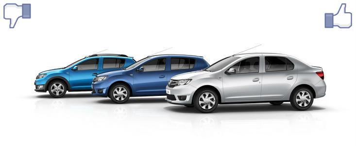 LIKE ori DISLIKE: Dezbatem in detaliu noile Dacia Logan, Sandero si Sandero Stepway