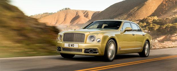 Limuzina de lux de la Bentley mai traieste cateva luni datorita pandemiei. VIDEO cu cele mai importante momente din cariera lui Mulsanne