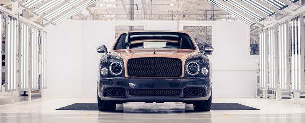 Limuzina suprema de la Bentley se retrage in glorie dupa 7.300 de unitati construite. Asa arata penultimul exemplar