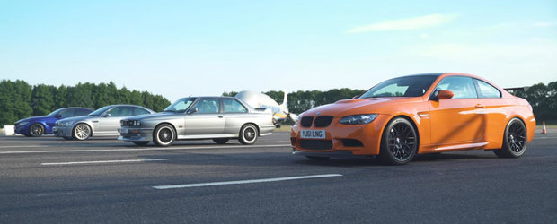 Liniuta asta ii unge pe suflet pe fanii BMW M. Participa un E92 GTS, un E30, un E46 CSL si un M3 CS de ultima generatie