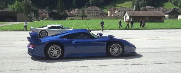 Liniute cu cele mai rare masini din lume. Participa Ferrari FXX K, Mercedes CLK GTR, Porsche 911 GT1 etc