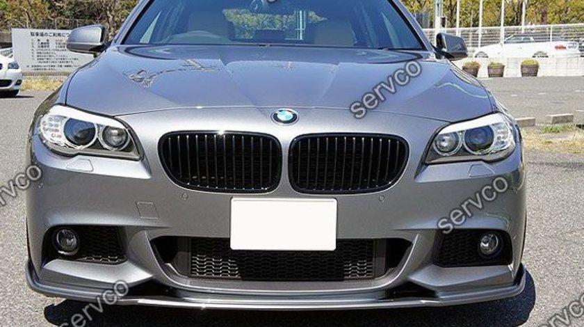 Lip buza tuning sport bara fata BMW F10 F11 Hamann pt bara pachet M tech Aerodynamic v2