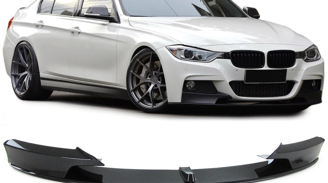 Lip / Prelungire bara fata BMW seria 3 F30 F31 F35 M-Performance design carbon look
