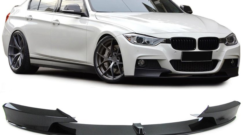 Lip / Prelungire bara fata BMW seria 3 F30 F31 F35 M-Performance design carbon look