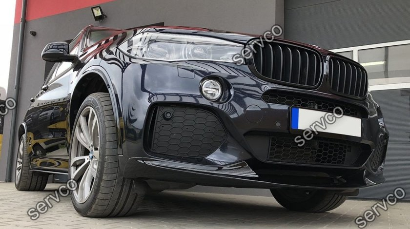 Lip spoiler prelungire tuning  bara fata BMW X5 F15 M Performance Aero M pachet 2014-2018 v1