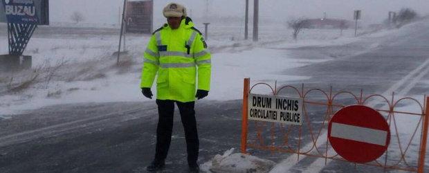 Lista completa a drumurilor inchise in Romania din cauza zapezii si a viscolului