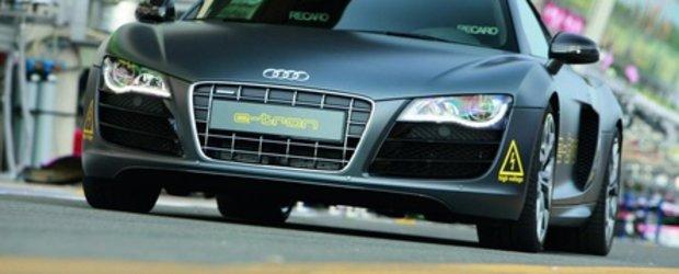 Livrare speciala de la Audi: R8 e-tron la 24 Hours of Le Mans