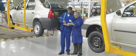Loganul, pe ultimul loc la numarul de masini produse de Uzina Dacia in 2017