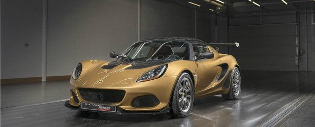 Lotus Elise Cup 260: o noua editie speciala usoara ca o pana si cu 250 de cai sub capota