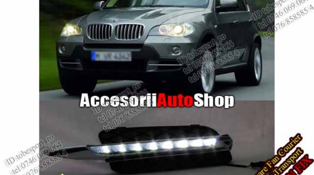 Lumini de zi BMW X5 E70 DRL BMW X5 E70
