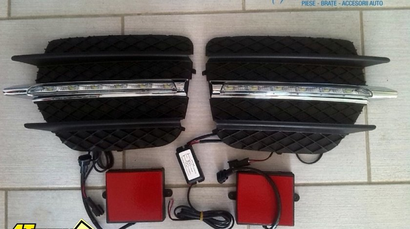LUMINI DE ZI BMW X6 E71 2008 2011 set LED DRL
