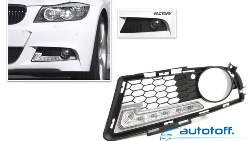 Lumini de zi cu LED BMW seria 3 E90 LCI (2008-2011)