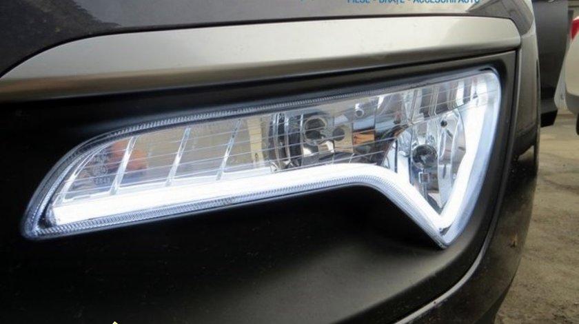 Lumini de zi cu LED-uri 2x 60cm- lumina uniforma DRL + semnalizare