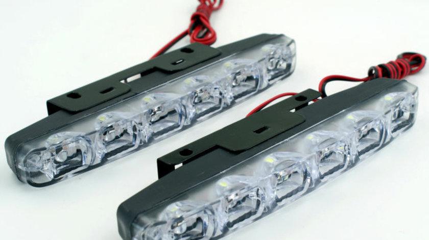 Lumini de zi DRL COB P6S 12V lumina alba VistaCar