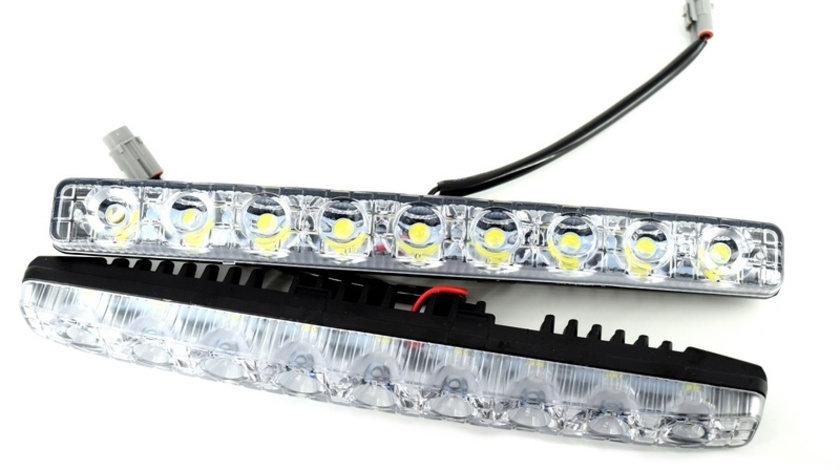 Lumini de zi DRL COB P9S lumina alba 12V VistaCar