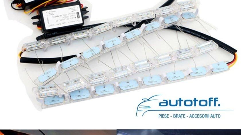 Lumini de zi DRL cu LED 52cm functie directionala Audi S8