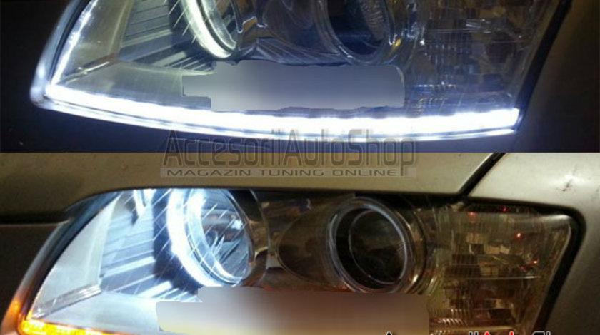 Lumini de zi flexibile DRL LED cu Semnalizare - AUDI VW SKODA BMW DACIA etc.