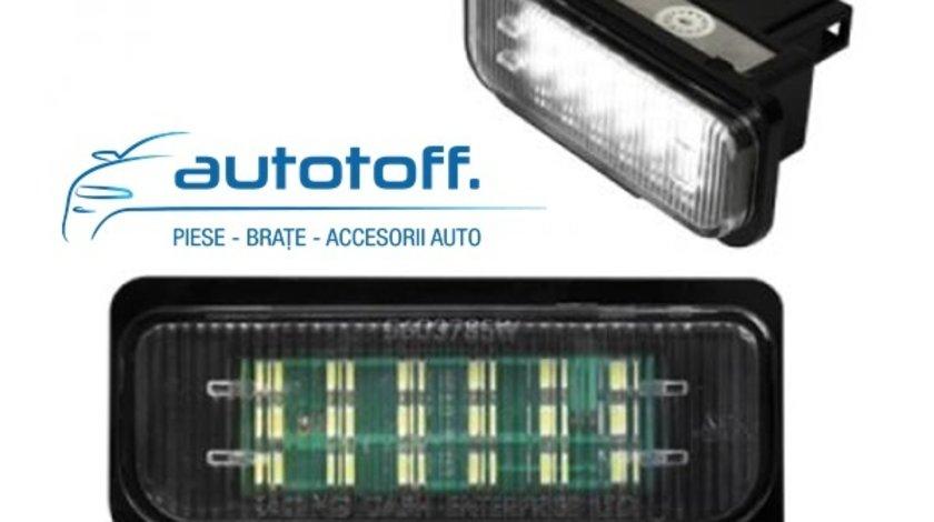 Lumini LED numar inmatriculare Mercedes W221