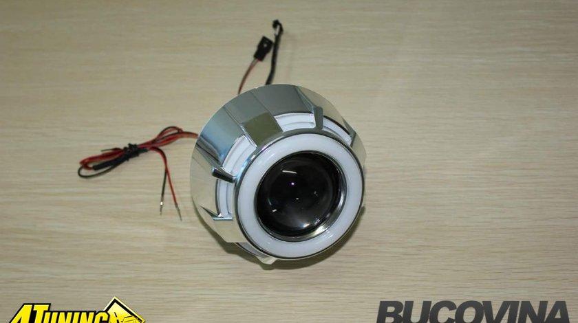 Lupe Bi Xenon cu Angel Eyes LED COB - 400 lei