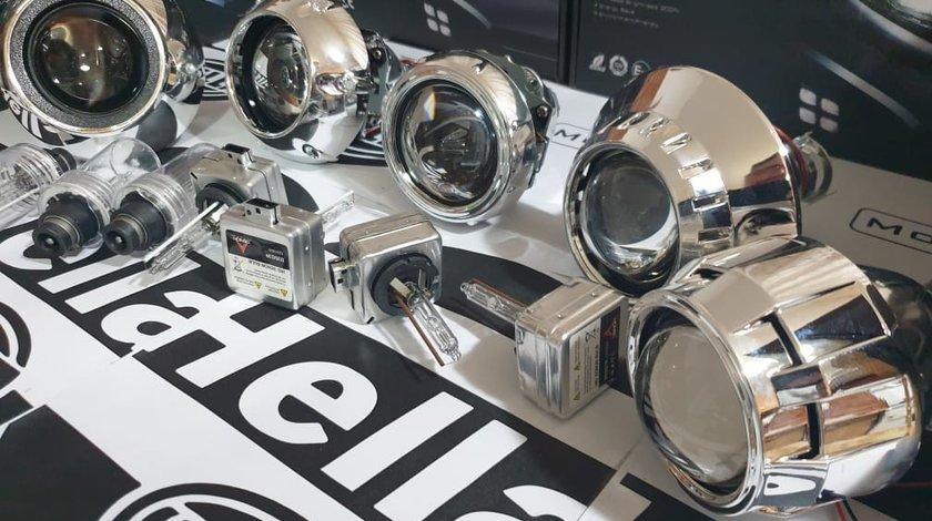 Lupe Morimoto 3 inch Bixenon +Ornamente dedicate BMW/Audi/VW/Ford/Opel