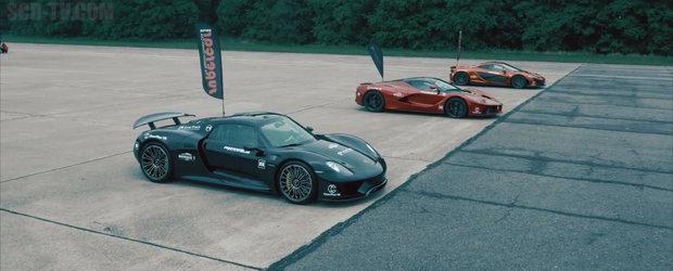 Lupta anului, etapa 0 - 300 km/h: McLaren P1 vs Ferrari LaFerrari vs Porsche 918