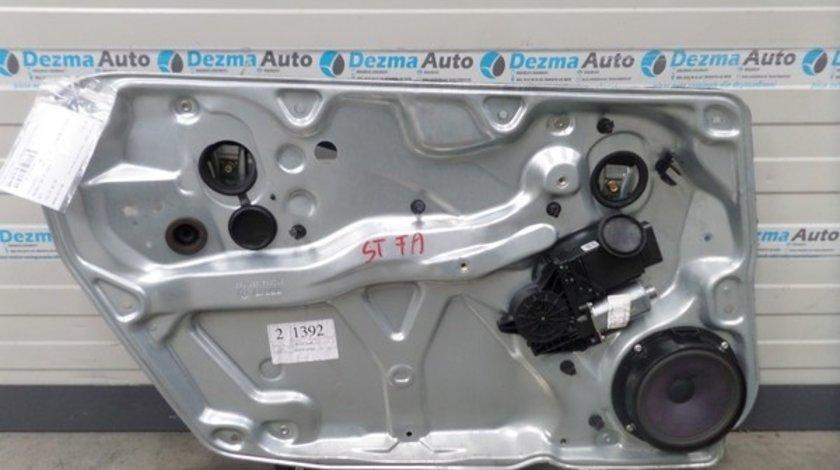 Macara cu motoras usa stanga fata 1J2959801E, 3B4837755D, Vw Passat B5, 1997-2000