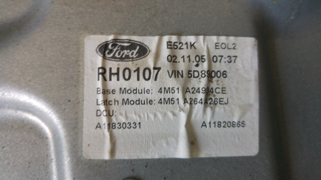 Macara manuala dreapta spate ford focus 2 4m51a24994ce