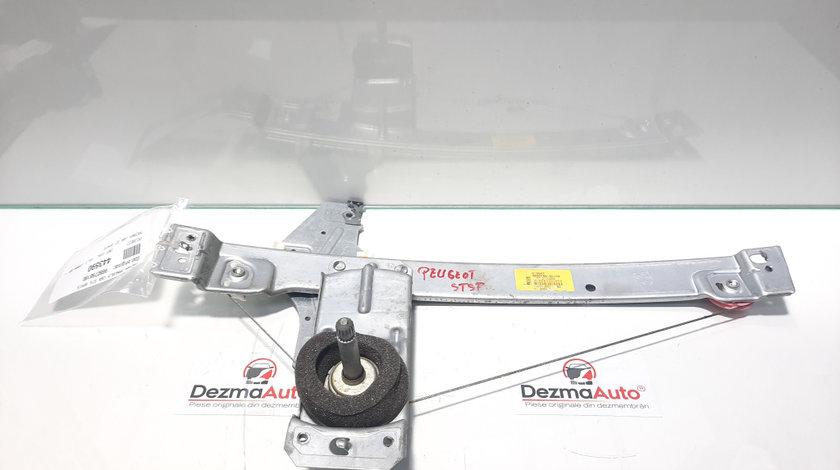 Macara manuala stanga spate, Peugeot 207 (WA) [Fabr 2006-2012] 9650768180 (id:443590)