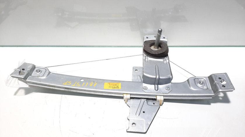 Macara manuala stanga spate, Peugeot 207 (WA) [Fabr 2006-2012] 9650768180 (id:448677)