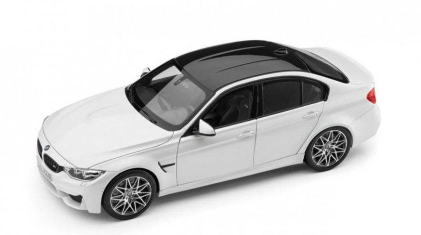 Macheta BMW M3 F80 Competition Mineral White 1:18